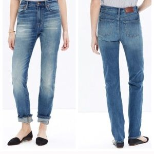 Madewell Perfect Fall High Rise Straight Legs Jean